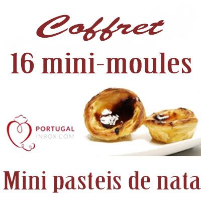 produit portugais coffret 16 mini moules pour mini pasteis de natas. Black Bedroom Furniture Sets. Home Design Ideas