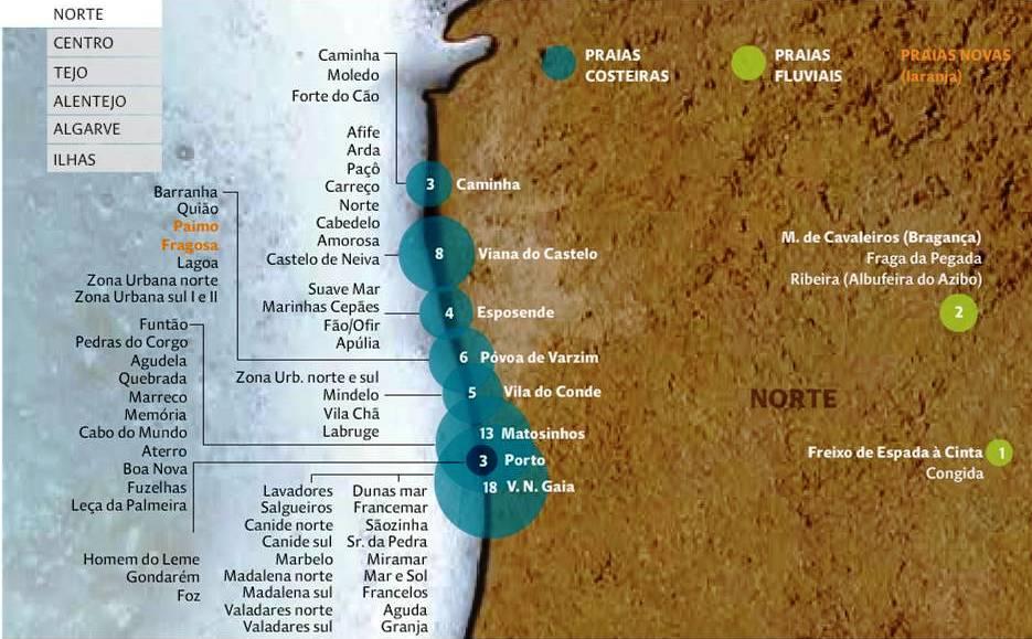 Célèbre Produit portugais : Carte Portugal : la carte des plages portugaises WL12